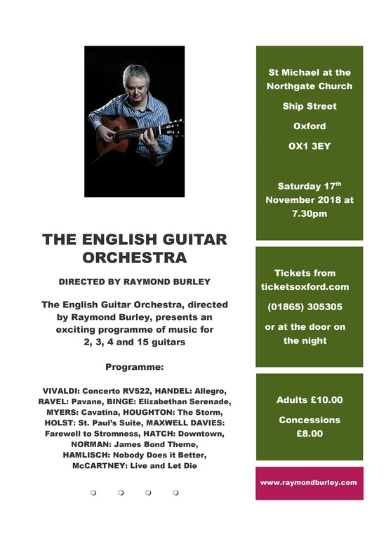 English Guitar Orchestra Dir Raymond Burley