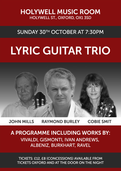 Lyric Guitar Trio Raymond Burley John Mills and Cobie Smit
