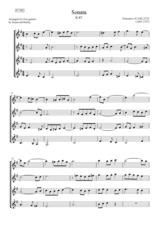 cover of 006: SCARLATTI: Sonata K.87 (4 guitars)