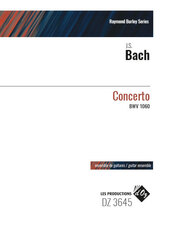 cover of BACH: Concerto BWV 1060