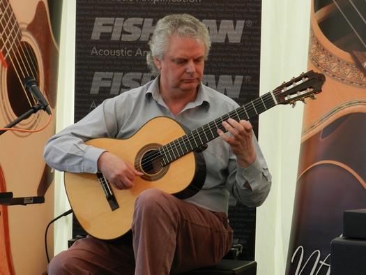 Classical Guitarist Raymond Burley playing his award winning Santos Martinez 'Raymond Burley' signature guitar