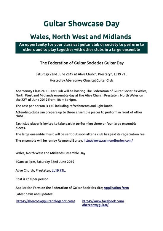 North Wales Federation Day